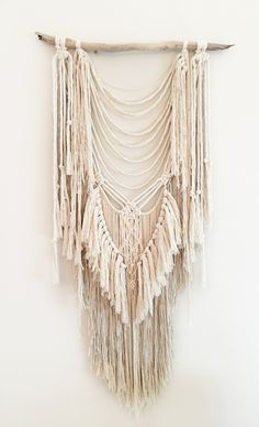 I N S T A G R A M @roundnine9 - The latest addition to my new one-off range. Lush texture and super soft. 60cm wide x 112cm long, she's made from 100% natural Australian cotton. #macrame #handmade #wallhanging #boho #interiors #interiorstylist #homedecor #wallart #art