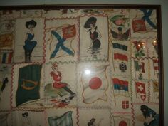 Victorian QUILT TOP CIGARETTE SILK SQUARE Victorian Quilts, Flag Dress, Juki, Crazy Quilting, Vintage Textiles, Quilt Top, Reuse, Repurposed, Embroidery
