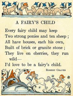 if i were a fairy poem