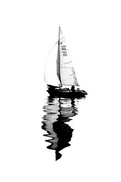 Welcome to Nature-and Culture (since ! Watercolor Illustration, Watercolor Paintings, Sailing Tattoo, Sailboat Painting, Ship Drawing, Boat Art, Black And White Photography, Line Art, Art Drawings