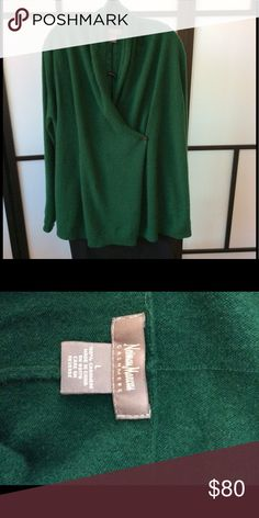 Neiman Marcus cashmere wrap front 100% cashmere, really nice drape on a variety of figures.  Very good condition.  Slight signs of dry cleaning. Neiman Marcus Sweaters Cardigans