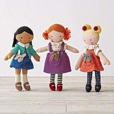 Shop Knit Crowd Toddler Doll Redhead.  One doll's a pal.  Two is company.  And three's a crowd.  Especially when they're these super soft, hand knit dolls with stylish outfits and pets.  Plus, they're perfectly sized for toddlers, too.