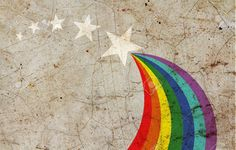 Rainbow Painted On Grunge Wall Stock Photo, Picture And Royalty ...