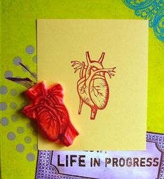 perfect for a tattoo! - Anatomical heart stamp by Kim Time Tattoos, Body Art Tattoos, Muse Art, Anatomical Heart, Anatomy Art, Heart Art, Sacred Heart, Heart Jewelry, Textile Prints