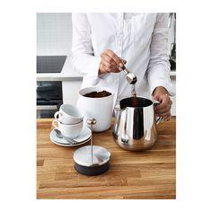 ANRIK Kaffee-/Teezubereiter IKEA Durch den doppelwandigen Edelstahl behalten Flüssigkeiten lange ihre Temperatur, während die Außenseite küh...