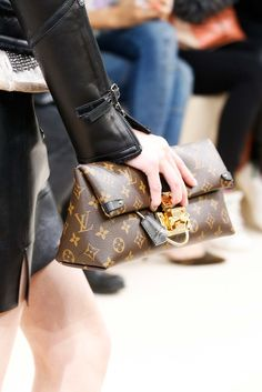 One of the Best Accessories of the Season - Vuitton monogram in a deconstructed lunch-bag shapre