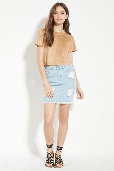 Contemporary Denim Skirt