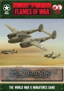 FLAMES OF WAR American P-38 LIGHTNING Battlefront Miniatures AC011  The Flames of War items can be purchased at a hobby or gaming store that carries the line.