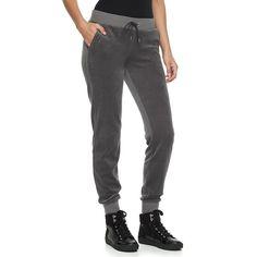 Women's Juicy Couture Solid Velour Jogger Pants, Size: