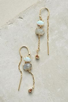 Anthropologie Cumulus Threader Earrings