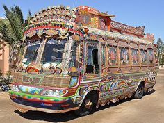Amazing Pakistan tradition of decorating trucks...so very unique....wow..love the art work