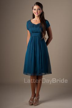 Modest Bridesmaid Dresses : Briana... need to compare colors.