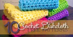 Handmade Dishcloths are so popular! Crocheters find they are easy to whip up, sell quickly and cost little to make. Here are 10 of the most popular Dishcloth patterns found in The Yarn Box. Crochet Kitchen, Crochet Home, Knit Or Crochet, Crochet Crafts, Crochet Projects, Free Crochet, Easy Crochet, Tunisian Crochet, Knitting Projects