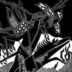 THE BLACK HORSE Apocalypse linocut by WingedLion on Etsy, $125.00