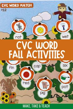 These interactive file folder games and activities are perfect for learning to read CVC words. The CVC word activities are perfect for first grade literacy centers! Short Vowel Activities, Phonics Activities, Hands On Activities, Teaching Phonics, Kindergarten Literacy, Literacy Centers, File Folder Activities, Folder Games, First Grade Games
