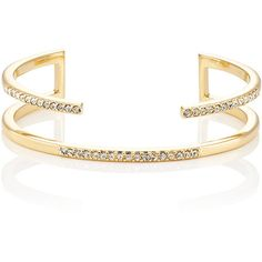 Jules Smith Women's Pacey Cuff ($49) ❤ liked on Polyvore featuring jewelry, bracelets, no color, druzy jewelry, drusy jewelry, cuff jewelry, white jewelry and jules smith