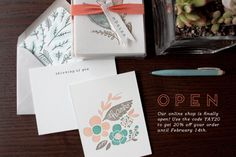 Our online shop is finally open! Use the code YAY20 to get 20% off your order until February 14th. (Just enough time to buy a lovely letterpressed card for that special someone.) Go here to shop. Well be doing a couple giveaways here and on our facebook page later in the week to celebrate, so be sure to check back to enter.