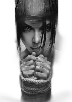 Tattoo Sketches, Tattoo Drawings, Body Art Tattoos, Dark Tattoo, Big Tattoo, Tattoo Sleeve Designs, Sleeve Tattoos, Girl Face Tattoo, Gangsta Tattoos