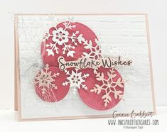 IM156 – Inspiration Monday Snowflake Cards, Snowflake Decorations, Christmas Snowflakes, Holiday Cards, Christmas Cards, Christmas Holidays, Balloon Display, Stamping Up Cards, Card Patterns