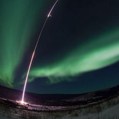 "Sounding Off Photograph by Lee Wingfield, NASA via AP  To better understand how solar storms might interfere with GPS systems, Lessard and his colleagues launched a sounding rocket into the aurora borealis from the University of Alaska's Poker Flat Research Range near Fairbanks on February 18.  Sounding rockets are small but powerful suborbital rockets that borrow their name from the marine term ""to sound,"" which means to take measurements."