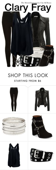 """Clary Fray - The Mortal Instruments: City Of Bones"" by nerd-ville ❤ liked on Polyvore featuring Topshop, Charlotte Russe, Helmut Lang and Relic"