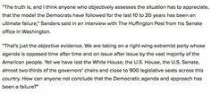 Bernie Sanders on the Democratic party