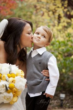 Bride and ring bearer pic me and Jax can't wait! Jax will be smaller, but this is an awesome pic idea!!