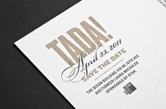 PICA Event Collateral by Tim Kamerer, via Behance