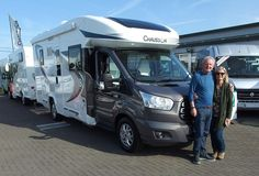 Hamish & Heather are pictured taking delivery of their new Chausson 640 Welcome Motorhome,  They took the decision back in January to purchase the 640 from us.  But with a protracted availability of this premium brand new Motorhome model, they decided to go off and tour various parts of the world first, using public transport wherever possible.  The Chausson 640 is just 7 x metres in length and so is compact yet spacious inside, and can sleep up to 4 x persons. Styrofoam Insulation, Premium Brands, Public Transport, Fiat, Motorhome, Welcome, First World, Recreational Vehicles, Interior And Exterior
