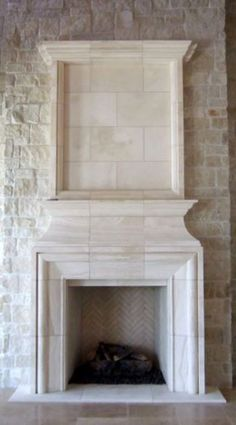 IN ADDITION TO the many standard architectural items that are part of most projects, there are also items such as finials, quoins, groin vault ribbing, and wall caps. These architectural details are what transform a house into Fireplace Remodel, Fireplace Wall, Fireplace Surrounds, Fireplace Design, Fireplace Mantels, Fireplace Ideas, Fireplaces, Limestone Wall, Limestone Fireplace