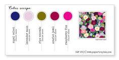 Royal Velvet, Lavender Moon, Ripe Avocado, Scarlet Jewel, Raspberry Fizz (Color-Recipe-8, SAF 2013)