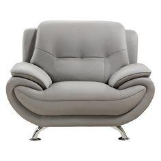 American Eagle Furniture Highland Home Sofa Chair Gray - AE208-GR-CHR
