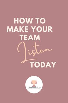 This career advice is tried and tested to make your team truly listen to you. It's a critical skill of leadership and management that if neglected, can lead to serious team engagement problems. #Leadership #motivation #careertip #teamactivities #teamengagement #team #Careertip #careeradvice #entreprenuer #girlboss Team Activities, Leadership Activities, Leadership Tips, Effective Communication, Communication Skills, Business Management, Management Tips, Workplace Motivation, Employee Engagement
