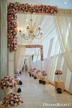 Wedding ceremony pictures Wedding entrance Wedding stage decorations Wedding entrance decor Wedding hall decorations Wedding arch - A dreamy pathway for your dream wedding Weddingideas weddingp - Desi Wedding Decor, Wedding Hall Decorations, Wedding Stage Design, Marriage Decoration, Wedding Mandap, Wedding Chairs, Wedding Table, Wedding Scene, Wedding Church
