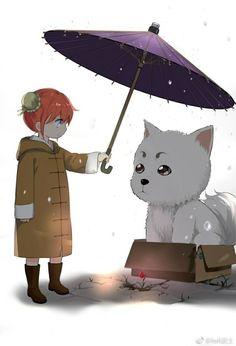 Kagura and Sadaharu | Gintama
