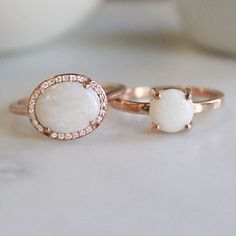 Opal obsessed. Introducing our enchanting new opal rings!