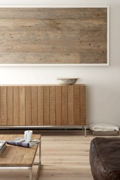 Een rustig geheel van verschillende soorten hout.