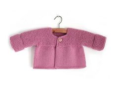 Knitted Baby Cardigan – PINK LADY –Free Knitting pattern, step by step pictorial guide as to how to complete this baby sweater knitting pattern. Considered easy to knit. Baby Cardigan Knitting Pattern Free, Baby Romper Pattern, Baby Booties Knitting Pattern, Knit Baby Shoes, Baby Sweater Patterns, Knitted Baby Cardigan, Knit Baby Booties, Baby Knitting Patterns, Baby Patterns