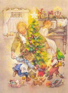 dansen rond de kerstboom...