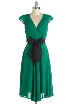 Have the Dance Floor Dress in Emerald, #ModCloth