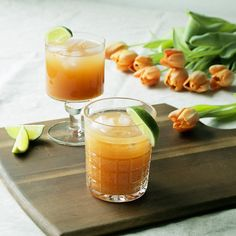 Moctail from rose hip puree