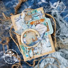 Nautical Cards, Nautical Theme, Carpe Diem Planner, Scrapbook Albums, Scrapbooking, Mixed Media Cards, Beach Cards, Heidi Swapp, Diy Cards
