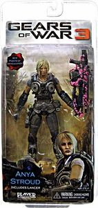 NECA Gears of War 3 Series 1 VARIANT Action Figure Anya Stroud [PINK Lancer]