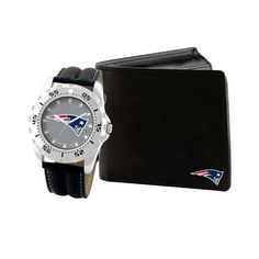 NFL New England Patriots Men's Watch and Wallet Gift Set