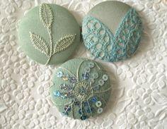 Beautiful fabric buttons