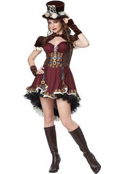 Steampunk Girl Burlesque Adult Halloween Costume | eBay