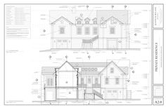 West Beach Residence — Kenneth Wiland ARCHITECT Revit Architecture, Architecture Details, Architectural Services, Architectural Drawings, Architect Jobs, Modern Exterior House Designs, Floor Plan Drawing, Apartment Floor Plans, Elevation Plan