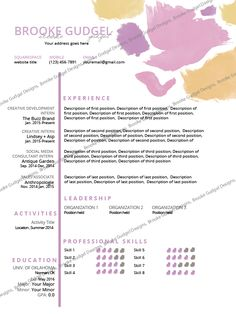 Amazing Sorority Resume Gift Documentation Template Example Ideas