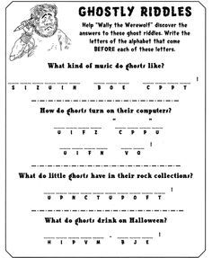 Welcome to Dover Publications - Frightfully Fun Halloween Activity Book Halloween Worksheets, Halloween Activities For Kids, Halloween Games, Holiday Activities, Halloween Puzzles, Halloween 2019, Halloween Treats, Happy Halloween, Halloween Party