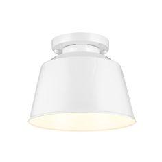 Freemont Hi Gloss White One-Light Outdoor Flush Mount  SINK LIGHT / BACK DOOR CEILING